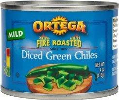 Ortega Diced Green Chiles, Mild 4 Oz (Pack of 6) ()