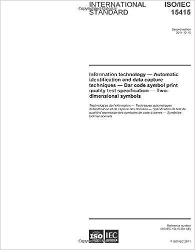 Amazon Isoiec 154152011 Second Edition Information