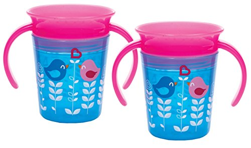 Munchkin Miracle 360 Trainer Cup, Blue Bird, 2 (2 Pack Bird Cups)