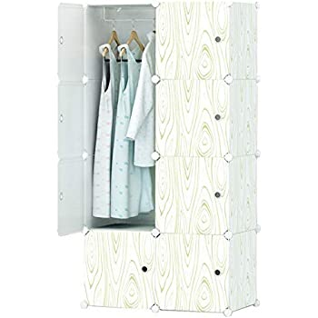 kousi portable wardrobe clothes closet plastic shelving armoire wardrobe closet. Black Bedroom Furniture Sets. Home Design Ideas