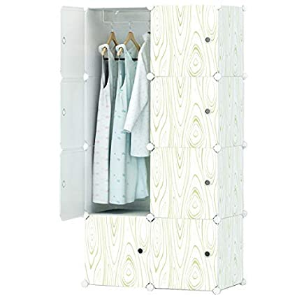 880a7ff70 Amazon.com  KOUSI Portable Closet Wardrobe Organizer Clothes Armoire ...