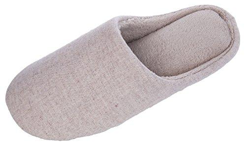 Mixin Pantuflas Para Mujer Lavable Mezcla De Lana Ligero Anti Deslizamiento Zapatillas Para Exterior Interior Beige