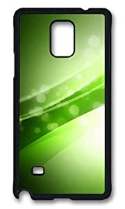 MOKSHOP Adorable Colorful Green Art 04 Hard Case Protective Shell Cell Phone Cover For Samsung Galaxy Note 4 - PCB