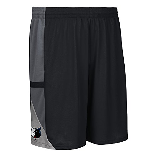NBA Minnesota Timberwolves Men's Tip-Off Mesh Shorts, Large, Black