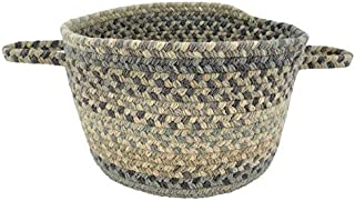 "product image for Capel Melange Beige Multi 0' 12"" Basket Braided Rug"