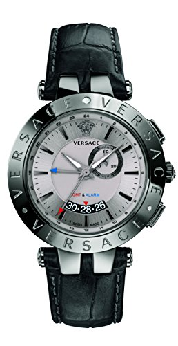 Versace Men's 29G98D535 S009 V-RACE GMT ALARM Analog Display Quartz Black - Versace V