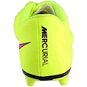 New Nike Men's Mercurial Vortex II FG Soccer Cleat Volt/Hyper Pink 8