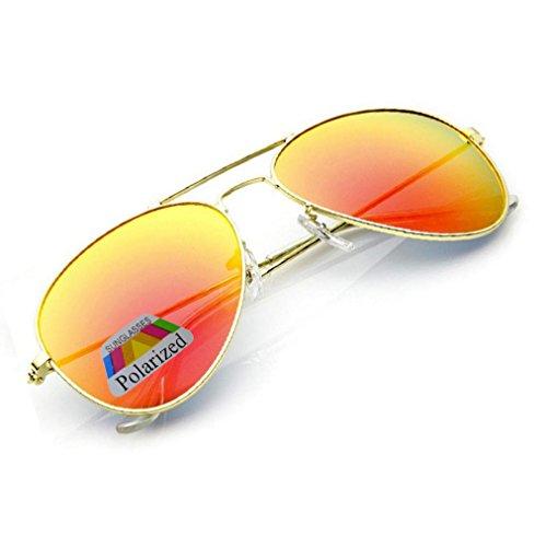 para hombre morefaz sol Gafas Mirrored Orange de qOxzR8