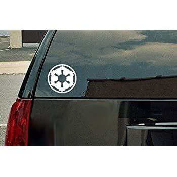 Star wars galactic empire vinyl decal white window sticker by spdecals