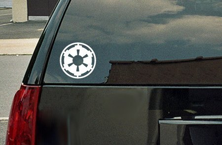Star Wars Galactic Empire Vinyl Decal - White Window Sticker by spdecals