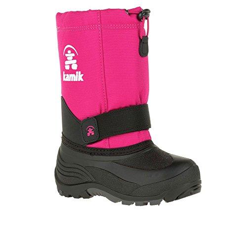(Kamik Girls' Rocket Snow Boot, Rose, 1 Medium US Little Kid )