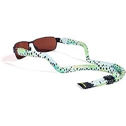 Croakies XL Suiters Eyewear Retainer, A.D. Maddox, Rainbow Fishskin