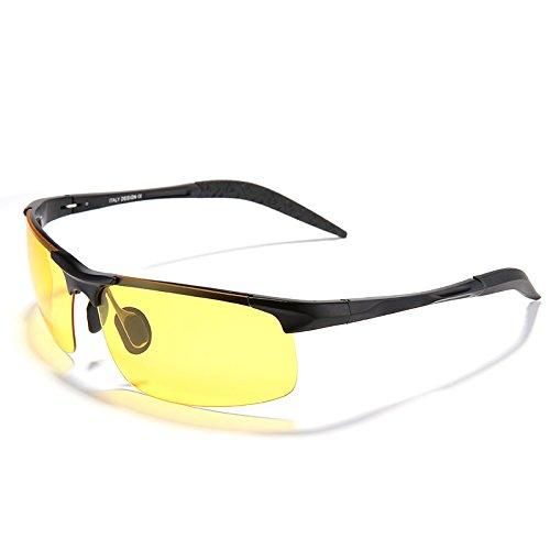 3 de de visión Gafas hombres colores conducción deslumbramiento polarizadas plata Il lente gafas nero nocturna de de gafas amarilla el Espejo TIANLIANG04 reducir qIT0UwT