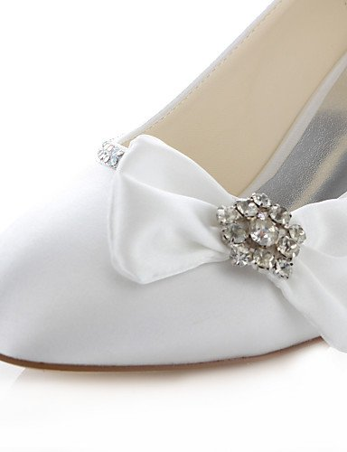 Mujer Boda 2in 3 Marfil 3 de Vestido y 3 4in ivory 4in Fiesta Tacones 3in 2 Redonda ivory Noche boda Tacones Zapatos Punta ZQ 0OxAna
