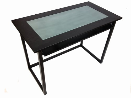 Sandusky Buddy Products Computer Workstation with Glass Top (6422-4) by Sandusky