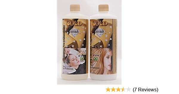Amazon.com: CIRUGIA CAPILAR GOLD DIAMOND BRAZILIAN 32 ONZAS + SHAMPOO Surgery Natural Fast Shipping: Everything Else