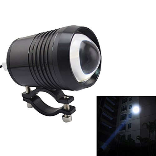 12 Led Spot Bulb (LONOVE U2 CREE Spot Work Driving Fog LED Headlight Bulb 1200LM 12V-60V Motorcycle Car ATV Truck Jeep Boat Waterproof Black)