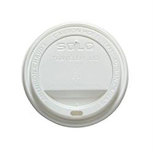 Dome Lid Traveler White, Polystyrene, Sip Hole, Hot Applications -