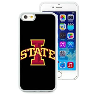 Fashionable And Unique Custom Designed With NCAA Big 12 Conference Big12 Football Iowa State Cyclones 4 Protective Cell Phone Hardshell Cover Case For iPhone 6 4.7 Inch TPU Phone Case White