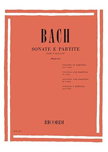 6 Sonate E Partite Bwv 1001-1006 Per Violino Solo (Francese) Copertina flessibile – 1 gen 1984 Johann Sebastian Bach Ricordi 0041824776 Musique