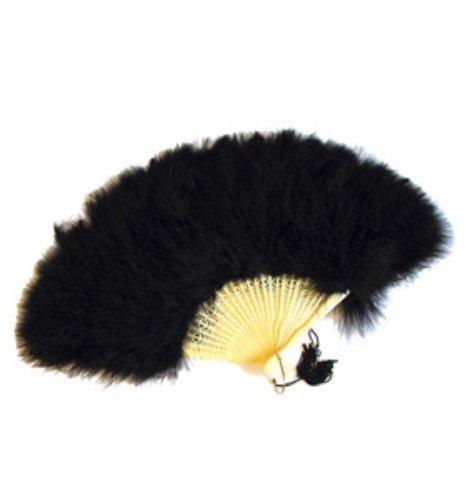 Black Feather Victorian Fan