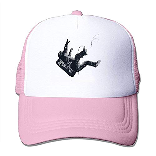 - AUUOCC Adult Freefall Astronaut Print Pattern Adjustable Baseball Cap Hat One Size Pink