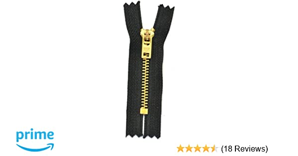 3 Zippers//Pack ZipperStop Wholesale Authorized Distributor YKK 4 Jean Zippers YKK #5 Jeans Brass ~ 580 Black