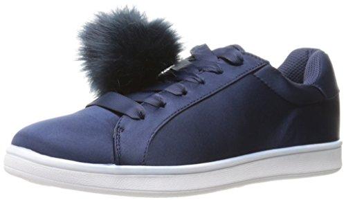 Gekke Meisjesmode Baabee Mode Sneaker Navy Satijn
