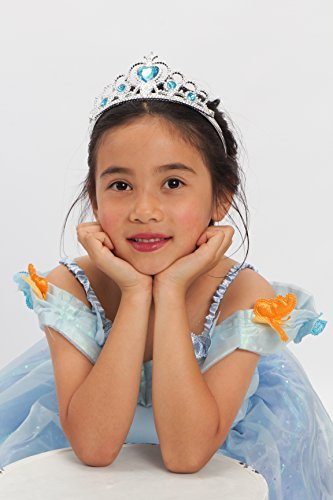 MONIKA FASHION WORLD Cinderella Costume Light up Girls Size T (2-4) S (4-6) M (6-8) T (2-4)