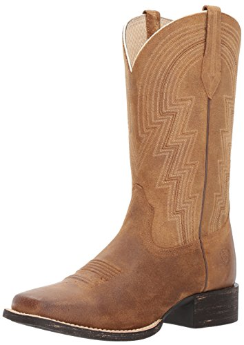 Ariat Women's Round up Waylon Work Boot, Old West Tan, 7 B US Athletic Round Toe Work Boots