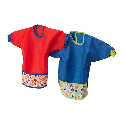 Price comparison product image KLADD PRICKAR Bib,  assorted sets of red and blue - pack of 2