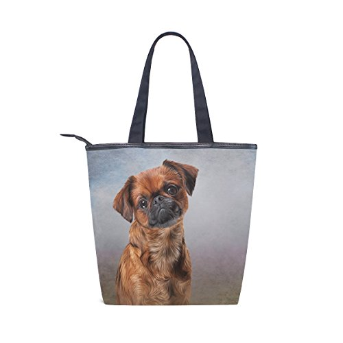 Brabanson Canvas Dog Bag Tote Womens Shoulder MyDaily Handbag Griffon ZqCF4wW