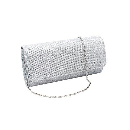 Clutch Bridal Cross Sliver Body Women Dazzling Purse Handbag Bag Tote Glitter mo Party Small Bag Clutch Bag Silver Wedding Spark Multi Xw47a