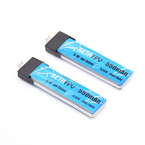 BETAFPV 2pc 550mah 1S Battery 3.8V 25C JST2.0 for Tiny Drone like Inductrix FPV Plus RTF