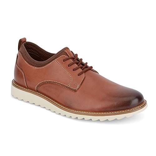 (Dockers Mens Elon Leather Smart Series Dress Casual Oxford Shoe, Tan, 8.5 M )