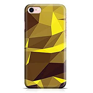 Loud Universe iPhone 8 Case Yellow Geomaterical Pattern New Transparent Edge Durable Wrap Around iPhone 8 Cover