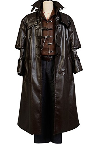 - Mens Halloween Outfit Van Helsing Hunterof Monsters Cosplay Costume,Large Brown