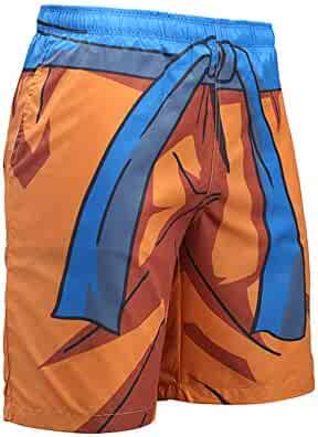 b0198dcfe1 Lichee Men's Dragon Ball Z 3D Board Beach Shorts Anime Fast Dry Swim Trunks  with Pockets