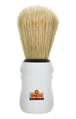 White Omega 49 Professional Pure Bristle Shaving Brush by Omega