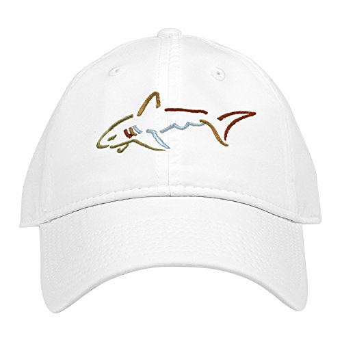 Greg Norman Performance Adjustable Hat Unstructured, White