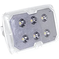 TACO White Marine LED Spreader Light W/SS Adjustable Tilt Mount & Clamp Car Accessories
