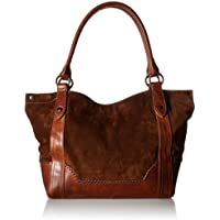 Frye Melissa Suede and Leather Shoulder Bag