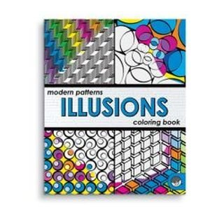 Modern Patterns Illusions Coloring Book by MindWare