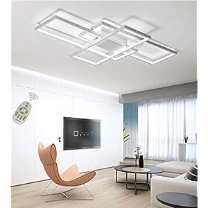 Plafoniera a LED Soggiorno Dimmerabile Soffitto Lamp Moderno Rettangolo Quadrato Designer Lampada a Sospensione con… 41jtPlrWl4L. SS300