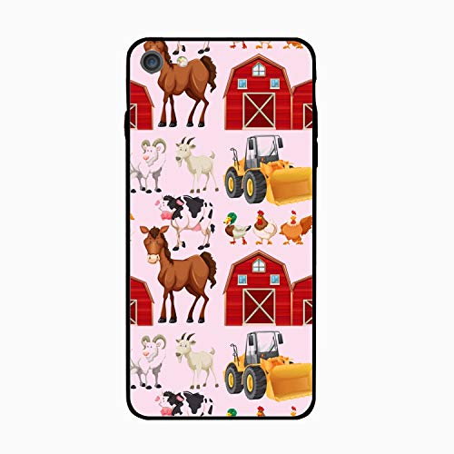 iPhone 6/6s Case,Personalized Farm Animals and Barns Floral Print PC Cellphone -