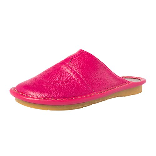 Haisum Sl-8808-w - Zapatillas de estar por casa de Piel Sintética para mujer rosa (b)