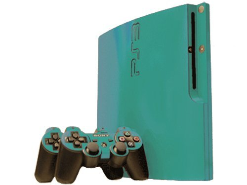 Sony PlayStation 3 Slim Skin (PS3 Slim) - NEW - TEAL TURQUOISE system skins faceplate decal mod