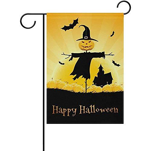 Sandayun88x Happy Halloween Decorative Double Sided Garden Flag 12 x 18 -
