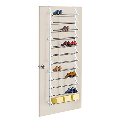 Lynk 36 Pair Over Door Shoe Rack - White