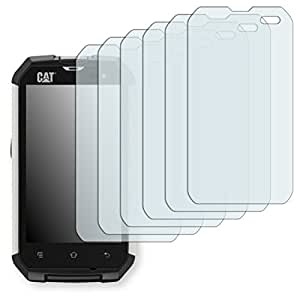 6x Golebo Crystal Clear screen protector for Cat B15 - (Transparent screen protector, Air pocket free application, Easy to remove)